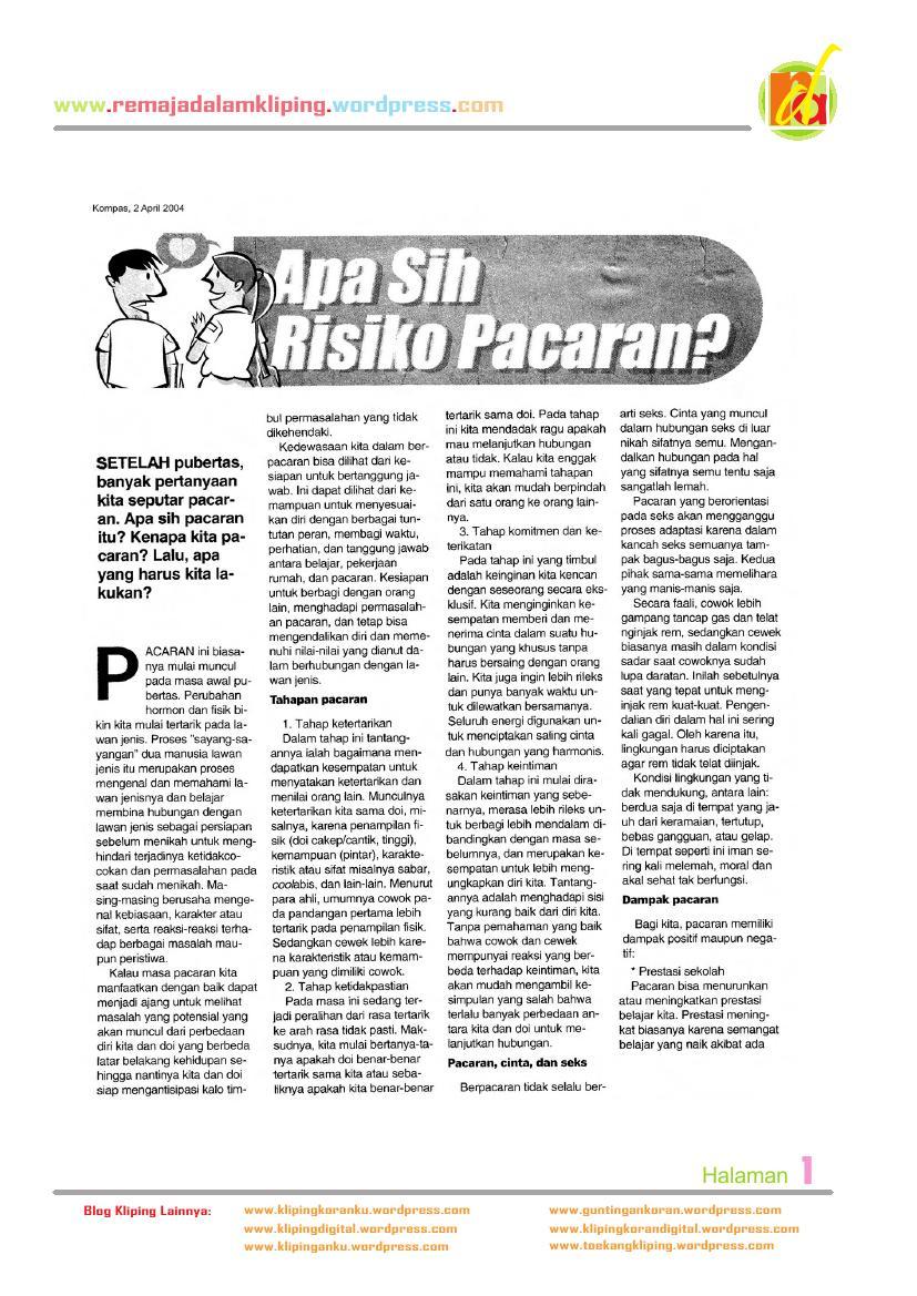 Remajadalamkliping Kliping Artikel Masalah Remaja Page 4